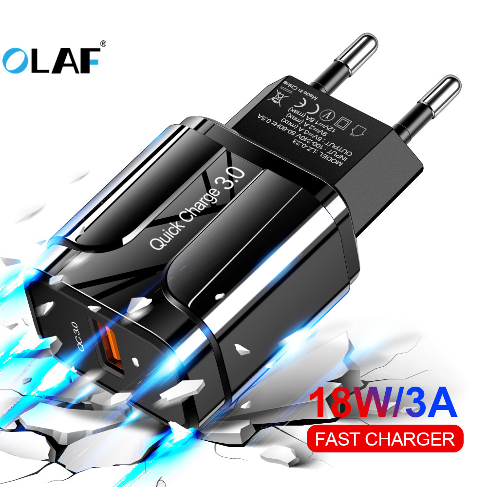 OLAF Usb-Charger Cell-Phone-Wall-Charger Eu-Us-Adapter Qc 4.0 Huawei IPhone Samsung