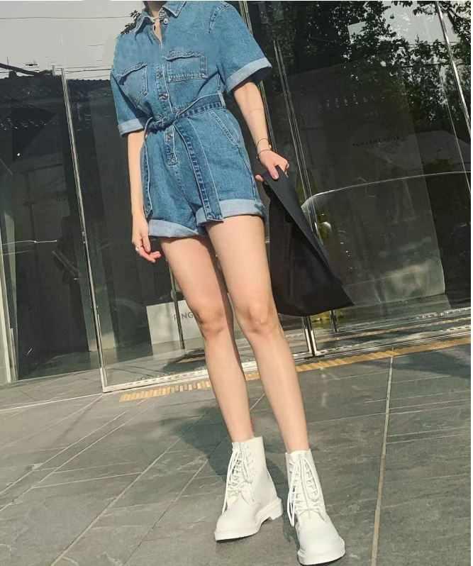 Solid Fashion Rompertjes Jumpsuits Sjerpen Bodycon Jeans Denim Overalls Voor Vrouwen Jumpsuit Bovenkleding Casual Jumpsuit