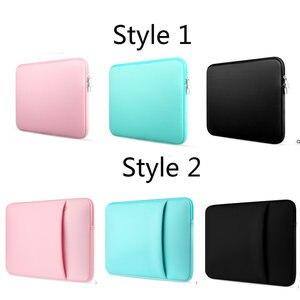 Image 5 - Рукав для ноутбука 14 15,6 дюймов Сумка для ноутбука 13,3 для MacBook Air Pro 13 Чехол сумка для ноутбука 11 13 15 дюймов защитный чехол для компьютера