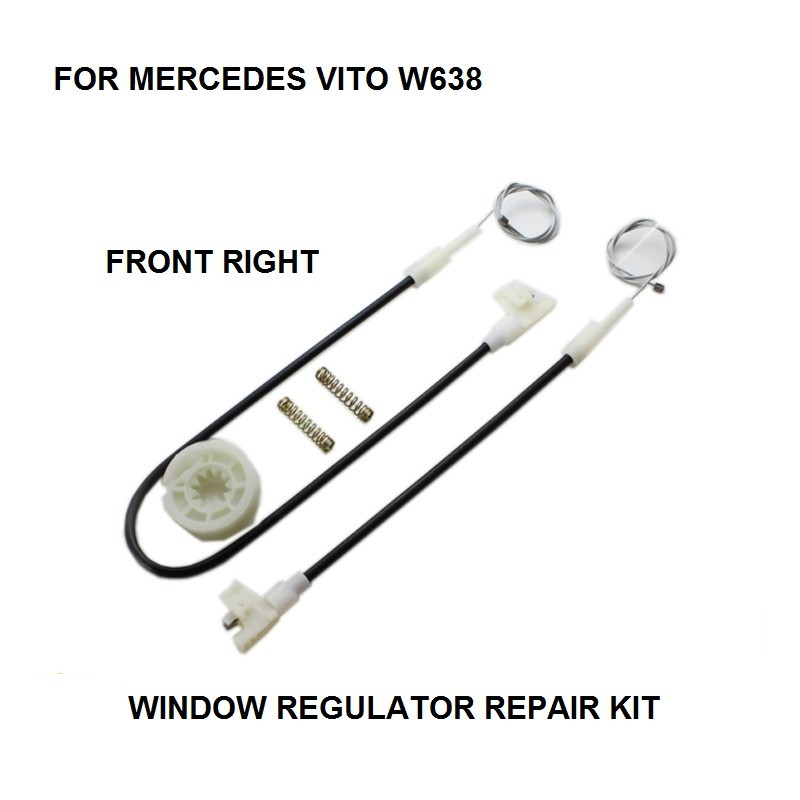 FOR MERCEDES VITO W638 WINDOW REGULATOR REPAIR KIT FRONT RIGHT 1996-2003