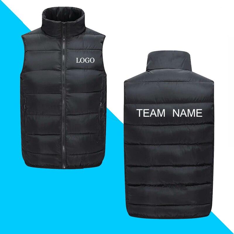 DIY Logo  Jackets Coats New Autumn Winter Ultra Light Sleeveless Jackets Coats Portable Casual Waistcoat For Man And Women