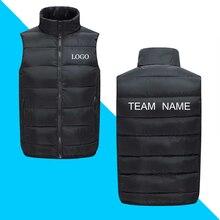 DIY logo  Jackets Coats New Autumn Winter Ultra Light Sleeveless Jacke