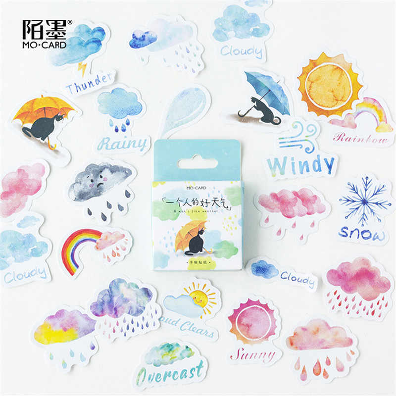 45 Pcs/set Kawaii Kartun Alat Tulis Stiker Kartun Lucu Planner Memo Scrapbooking Stiker Diary DIY Perlengkapan Sekolah