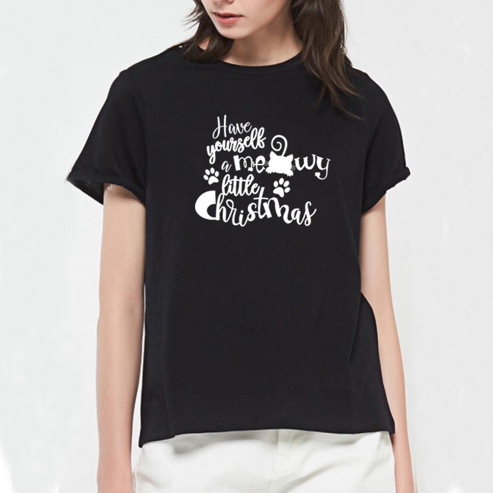Look Hipster Mujer Moda Camisetas Manga Corta Casual Poli/éster Gato Perezoso Impresi/ón para T-Shirt
