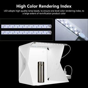 Image 3 - صور استوديو صندوق 20 سنتيمتر/30 سنتيمتر حلقة صغيرة صندوق إضاءة LED صندوق الضوء التصوير استوديو اطلاق النار خيمة صندوق عدة و 6 اللون الخلفيات