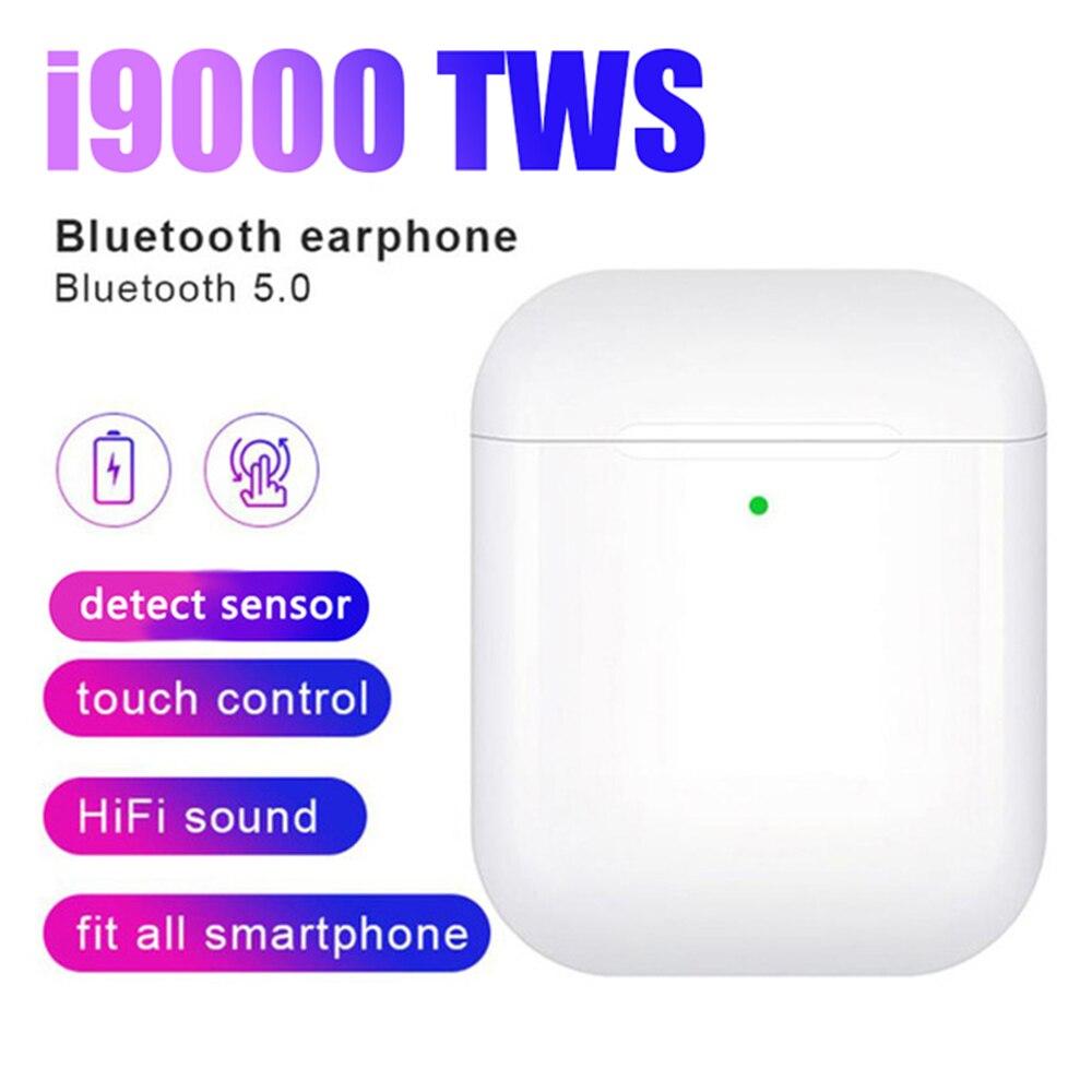 I9000 tws fone de ouvido sem fio ar 2 com ímã reverso caso carregamento bluetooth 5.0 fones um pk i500 i2000 i5000 tws tslm1