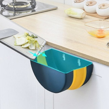 Foldable Garbage Bin Trash Can Bin Wall Mounted Bathroom Waste Storage Foldable Cute House Baskets Cleaning Tool