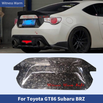 High quality Forged Carbon Rear Trunk Hood Cover Bonnets Tail cover Car Styling For Toyota GT86 FT86 Subaru BRZ Body Kit image