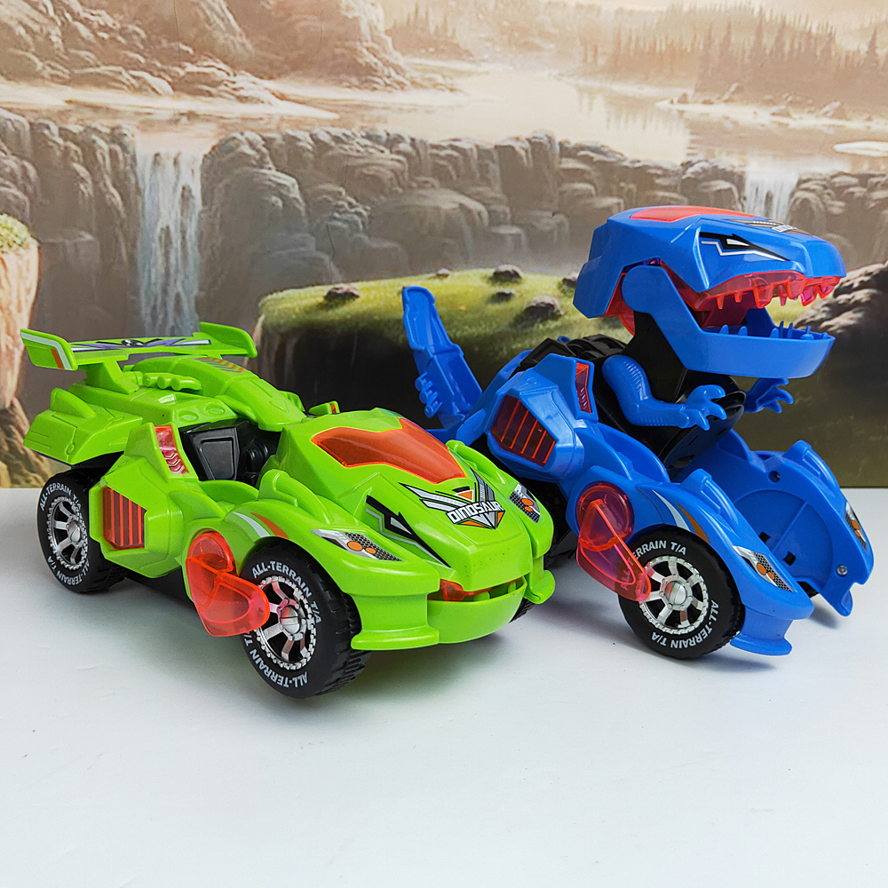 Electronic Deformation Car Dinosaur King Kong Toy Boy Deform Dinosaur Car Children's Toys High Quality