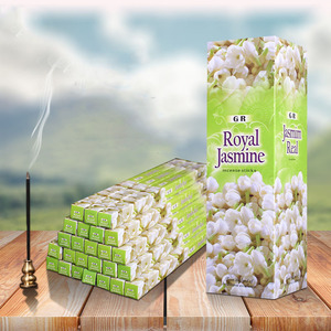 Incenso aroamtic natural do incenso da índia da vara do incenso da fragrância do jasmim 25 caixas pequenas em uma caixa grande
