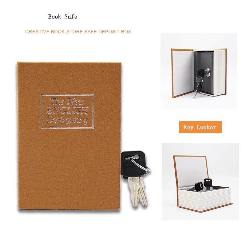 Dictionary Book Safe Security Key Lock Money Hidden Secret Safe Key Safe Box Stash Cash Money Coin Storage Jewellery Key Locker