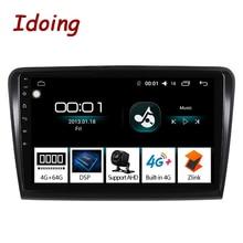 """Idoing 10.2 """"1Din Auto Android Radio Multimedia Player 2.5D IPS 4G + 64G Octa Core Per Skoda superb 2008 2014 di Navigazione GPS"""