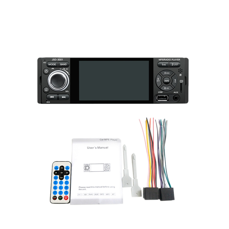 Autoradio 1 Din Car Radio JSD-3001 4.1 MP5 Car Player Press Screen Car Stereo Bluetooth 1Din Auto Radio image