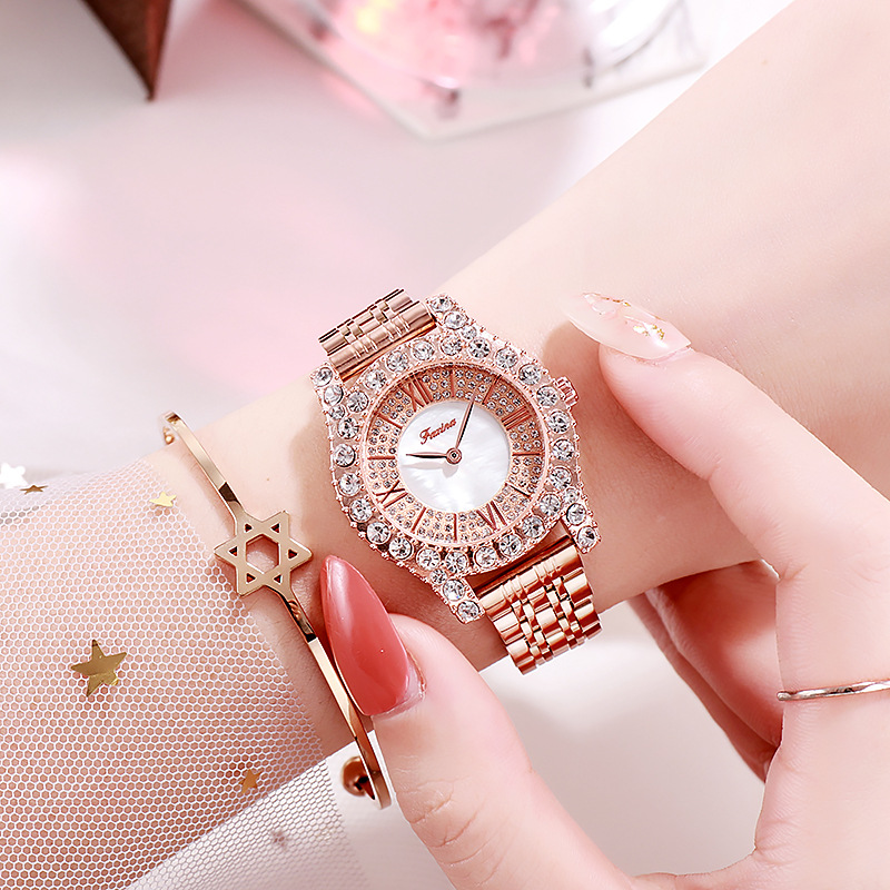 Luxury Ladies Watch 2020 New Women Watches Fashion Stainless Steel Watches Female Diamond Clock Roman Scale Ladies Quartz Watch