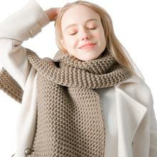 New winter thick wool handmade solid color scarf thickening men and women couples knitted fashion scarf warm scarves long top sell women s scarf winter wool knitted candy colors scarves soft comfortable thick warm handmade scarves
