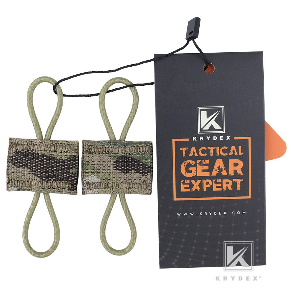 KRYDEX Multicam MOLLE Elastic Conversion Buckle Antenna Communication Cable Hydration Tube Route Loop Storage PTT Retainer 2PCS