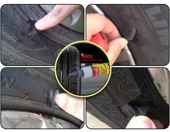Opony gumowe kleje uszczelniacze Super Caulk samochód gumowy naprawa opon klej rower motocykl narzędzie do napraw samochodowych akcesoria samochodowe tanie i dobre opinie CAR-partment 30ml black