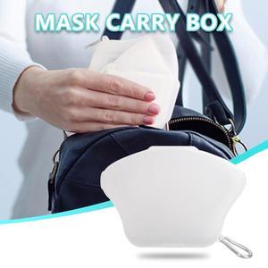 Портативный органайзер для масок для лица Пыленепроницаемая и влагостойкая коробка для очистки коробка для хранения фильтров без Шелковог...