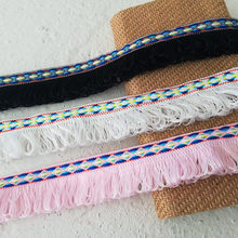 1m Ethnic Style Loop Tassel Lace Accessories Row Beard Decoration Border Handmade DIY Decoration Skirt Clothing Lace Trimming(China)
