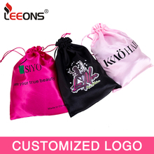 1Pc Wig Storage Bags Drawstring Bundles Satin Bags Package Gift Satin Bags Customize Logo For Hair Extension Jewellery 6 Colors