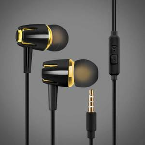 Wired Earphone Electroplating Bass Stereo In-ear Earphone with Mic Handsfree Call Phone Headset for Android iOS