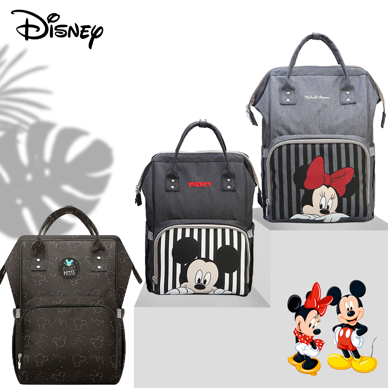 Disney USB Mommy Bag For Baby Diaper Bag Backpack Maternity Baby Diaper Bags For Mummy  Baby Nappy Bag Mummy Daddy Backpack New