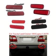 MIZIAUTO 2PCS/Set LED Rear Bumper Light For Toyota Land Cruiser/For Lexus LX470 Lantern Tail Brake Stop DRL Fog Light Reflector