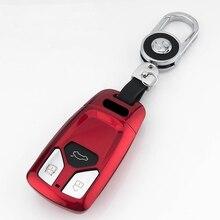 Key case for car For Audi A4 new A4L A5 A6L QT S5 S7 Q7 TTS paint key cover keychain keyring new key protector cover key holder