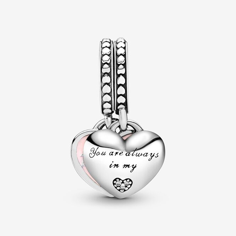 925-Sterling-Silver-Mother-Daughter-Hearts-Dangle-Charm-Fit-Original-Pandora-Charm-Bracelets-for-DIY-Women (2)