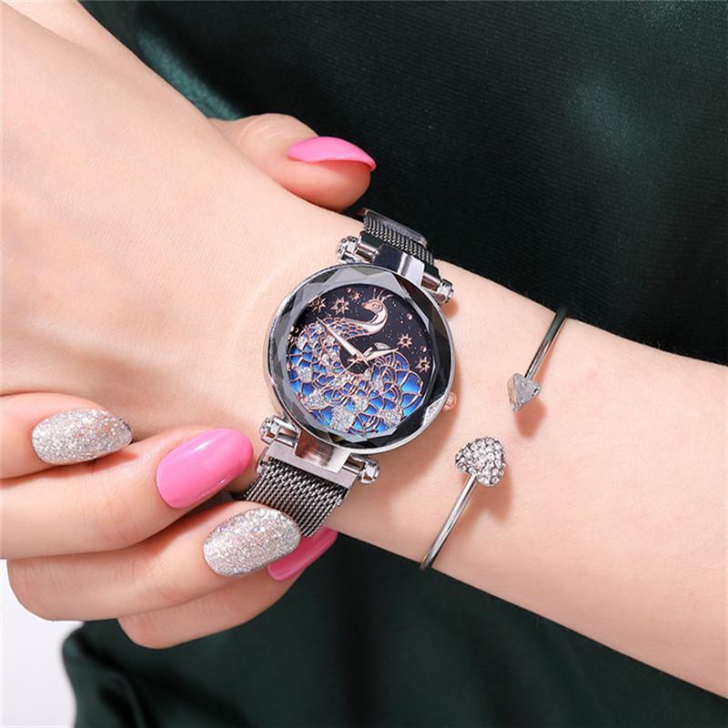 Luxury Women Watches Magnetic Peacock Female Clock Quartz Wristwatch Fashion Ladies Wrist Watch Reloj Mujer Relogio Feminino
