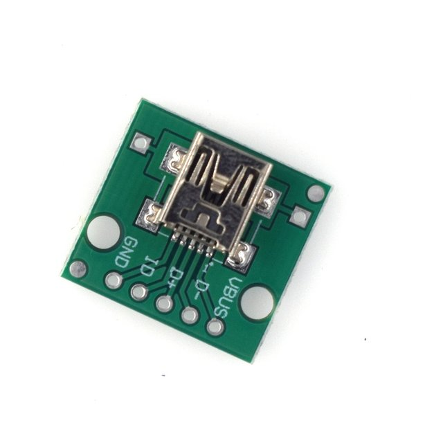 Hw-768 Adapter Board Usb To Dip Female Socket Mini-5p Patch To 2.54mm Straight Soldered Adapter Board 2