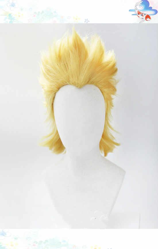 Anime My Hero Academia Mirio Toogata milyon Cosplay peruk Cosplay büyük 3 Mirio Toogata sarı saç + ücretsiz peruk kap