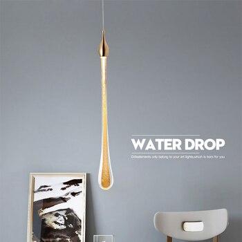 Nordic LED Luxury Crystal Chandeliers Water Drop Lamps Bedroom Bedside Modern Simple Bar Decorative Chandelier Lighting