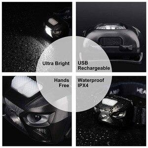 Image 5 - ZK20 LEDไฟหน้าMini USB Rechargeable Sensorไฟหน้ารถจักรยานยนต์CampingแบบพกพาไฟฉายEDC