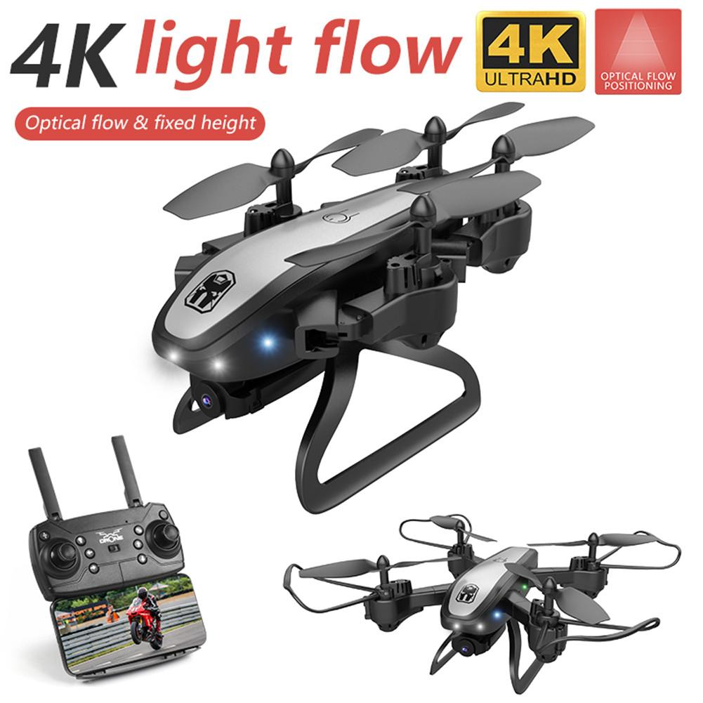 Remoter Control Drone KY909 2.4GHz Foldable Quadcopter Optical Flow Positioning Four-axis  Aircraft 4K Camera FPV RC Drone Toy W