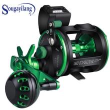 Sougayilang Saltwater Trolling Fishing Reels 6+1BB 5.1:1Max Drag Up To 25kg Full Metal Drum Fishing Reel Right/Left Hand Pesca
