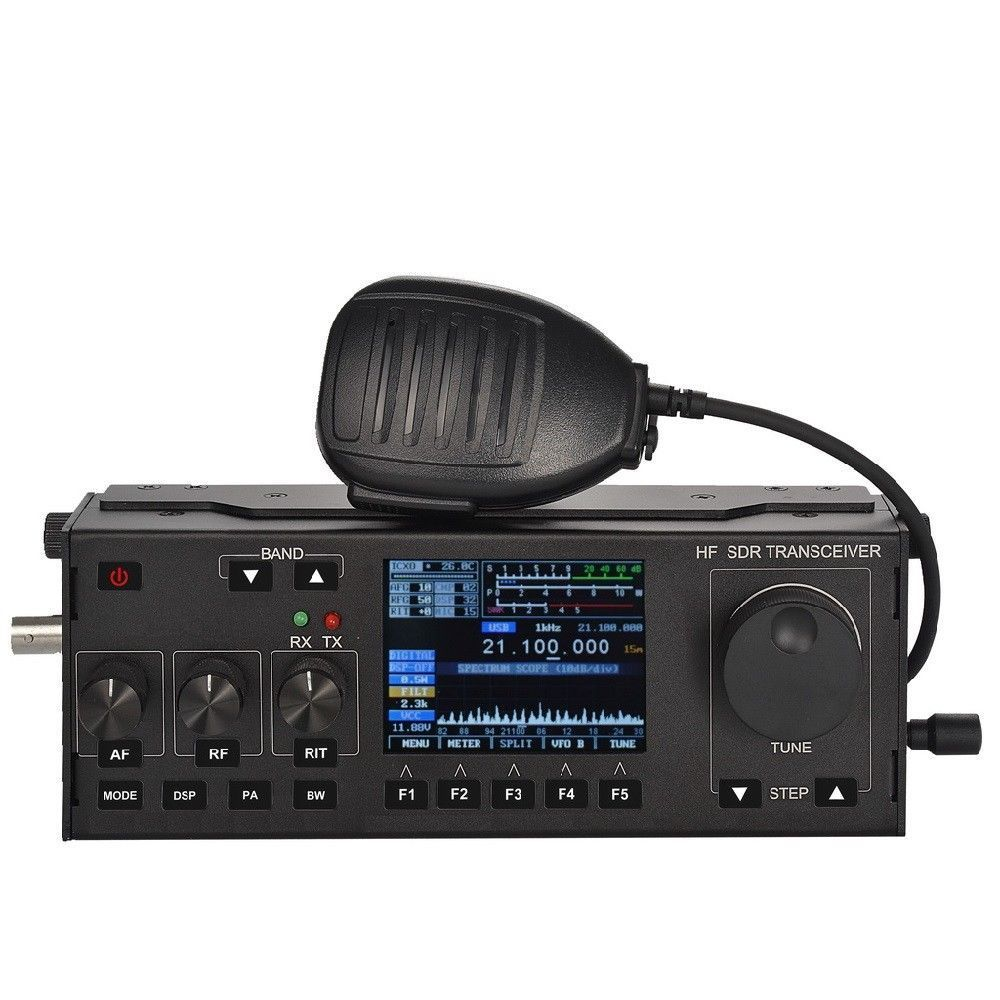 10-15W RS-918 SSB HF SDR HAM Transceiver Transmit Power TX 0.5-30MHz V0.6 DF8OE's Bootloader Version 4.0.0 Compatible With MCHF
