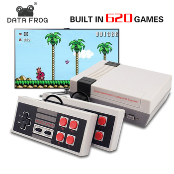 DATA FROG Mini TV Game Console Support HDMI/AV 8 Bit Retro Video Game Console Built-In 600/620 Games Handheld Gaming Player coolbaby hdmi out retro classic handheld game player family tv video game console childhood built in 600 games for nes mini p n