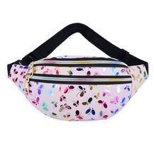 Women Printed Waist Fanny Pack Belt Bag Travel Hip Bum Purse Chest Phone Pouch A69C