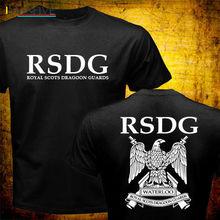 Fashion Men Scotland Pride RSDG ROYAL SCOTS DRAGOON GUARDS Cavalry British Army T-shirt Harajuku Brand Clothing Short Sleeve