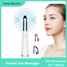 Masajeador de ojos eléctrico con vibración, pluma de masaje para arrugas en los ojos, eliminación de ojeras, hinchazón, cuidado de los ojos antienvejecimiento