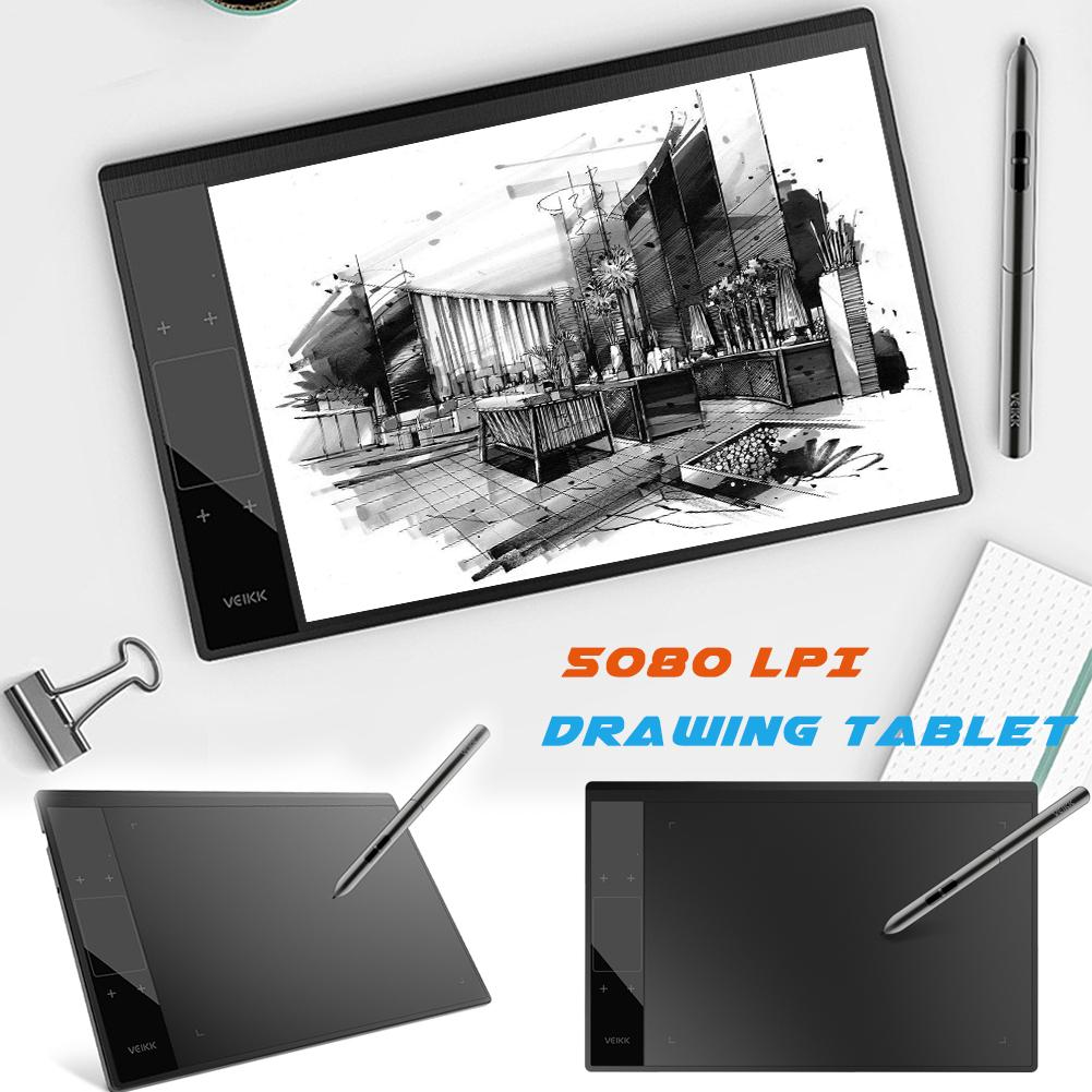 High Quality10*6 Inch A30 Graphic Tablet 8192 Levels Digital Tablet Drawing Tablet 5080 LPI Tablet No Needing Charge Pen
