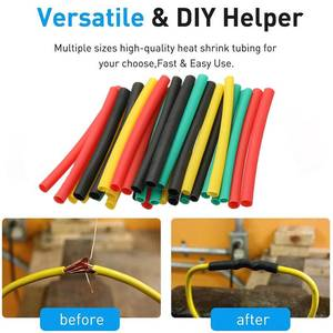 560 Pcs 2:1 Electrical Wire Cable Wrap Assortment Heat Shrink Tubing Insulation Shrinkable Tubes Electric Insulation Sleeve Kit