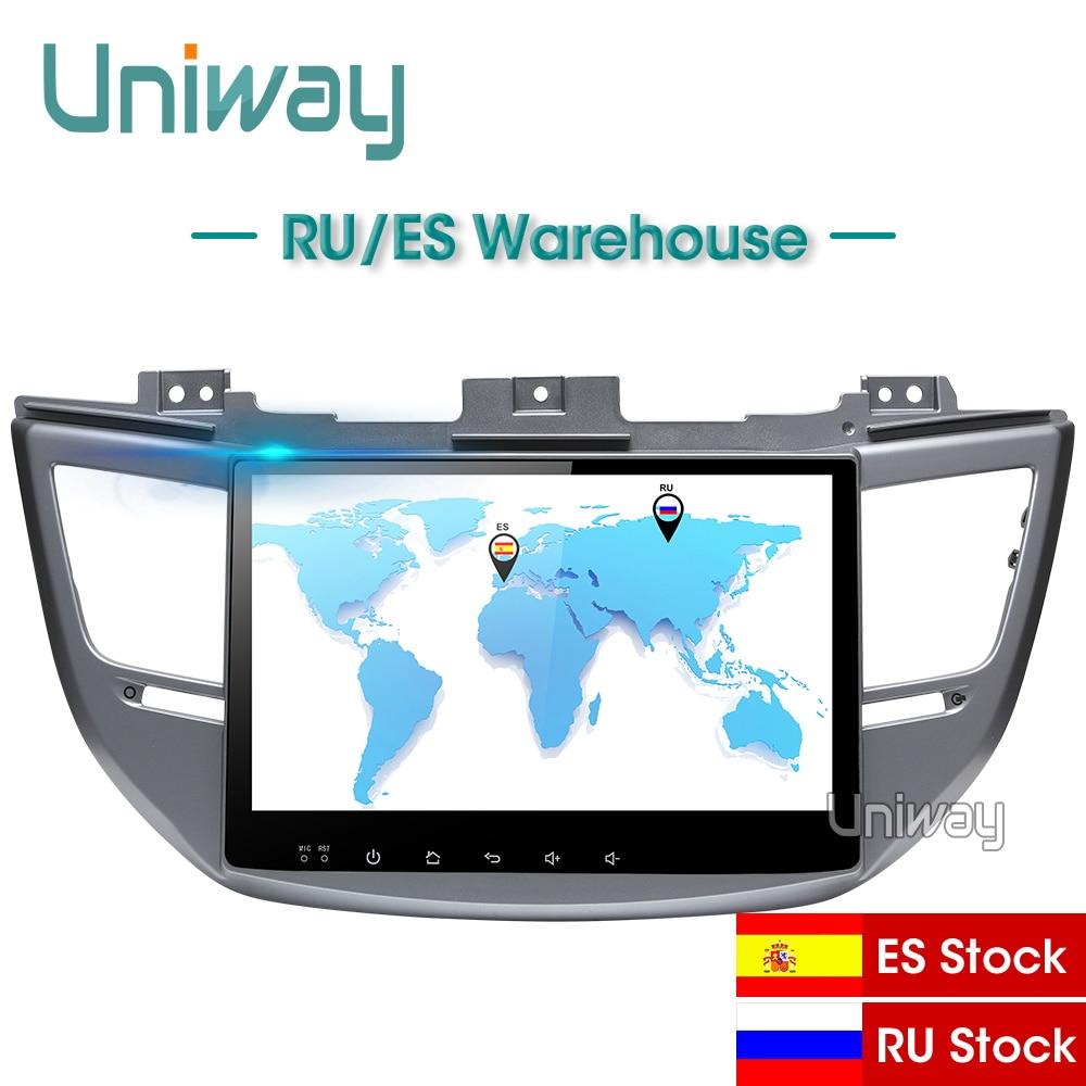 Uniway AXTS1071 32 2G + G android 8.1 dvd do carro para Hyundai Tucson/IX35 2016 2017 carro multimídia rádio de navegação gps