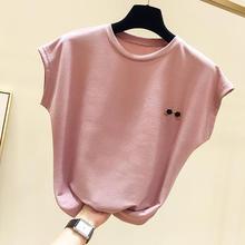 2019 Black T Shirt Women Clothes Fashion Tee Top multi Fashion Cotton L