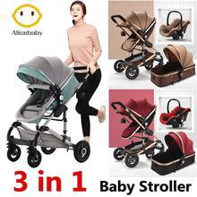 Multifunctional Baby Stroller 3 In 1 High Landscape Stroller Folding Carriage Cradle Travel Pram Safety Newborn Stroller 0~36M
