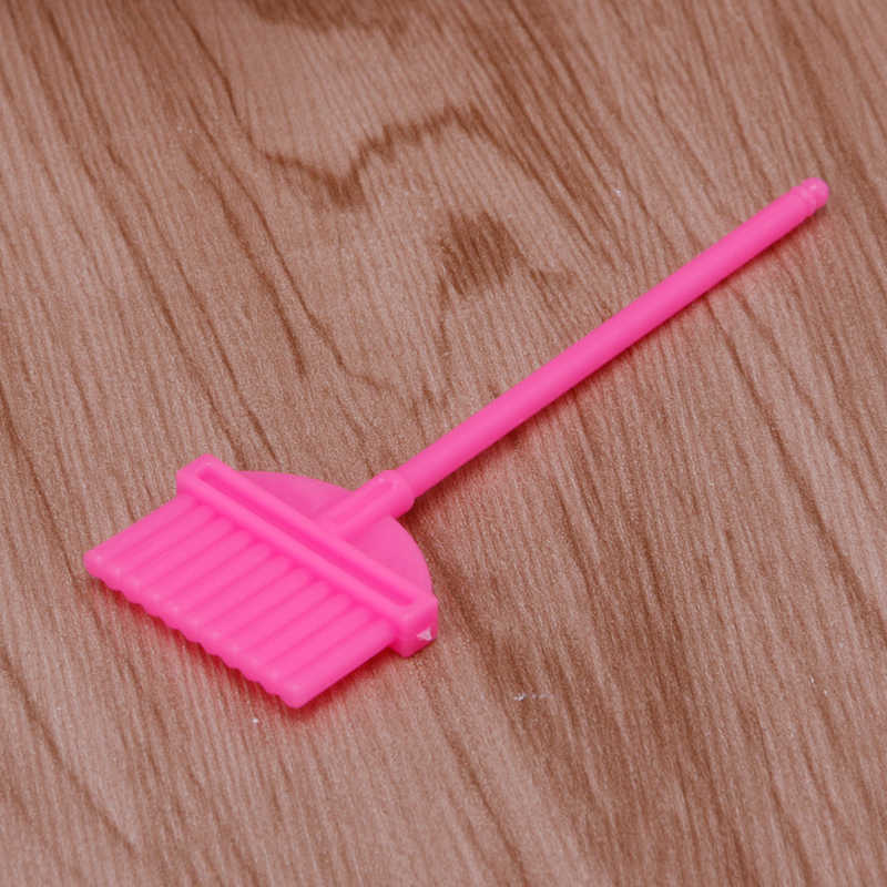 4 pçs mobiliário doméstico kit de limpeza limpeza para barbie boneca casa conjunto 72xc