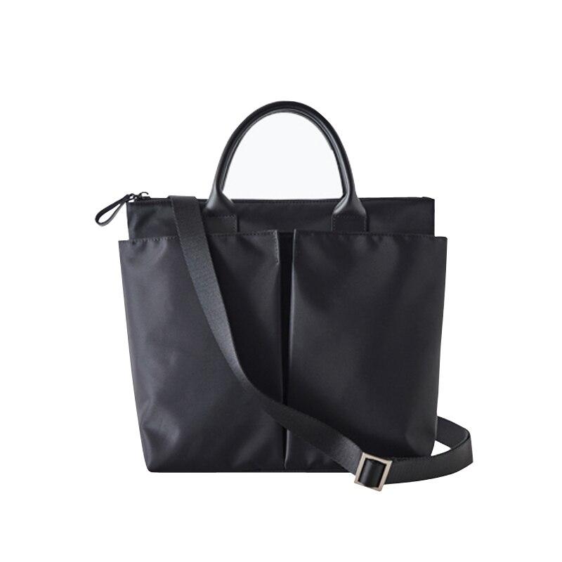 Nylon Briefcase Female Professional Hand Lady Shoulder Bag Tote File Bag Fashion Business Bag Female Women Bags