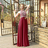 [Clearance Sale] Long Evening Dress Cheap Price Chiffon Beaded Crystal Formal Women Party Prom Gowns 48 Hours Shipping