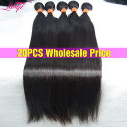Оптовая продажа 28 30 38 дюймов Пряди прямые волосы пряди оптом человеческие волосы пряди предложения волосы для наращивания бразильские воло...